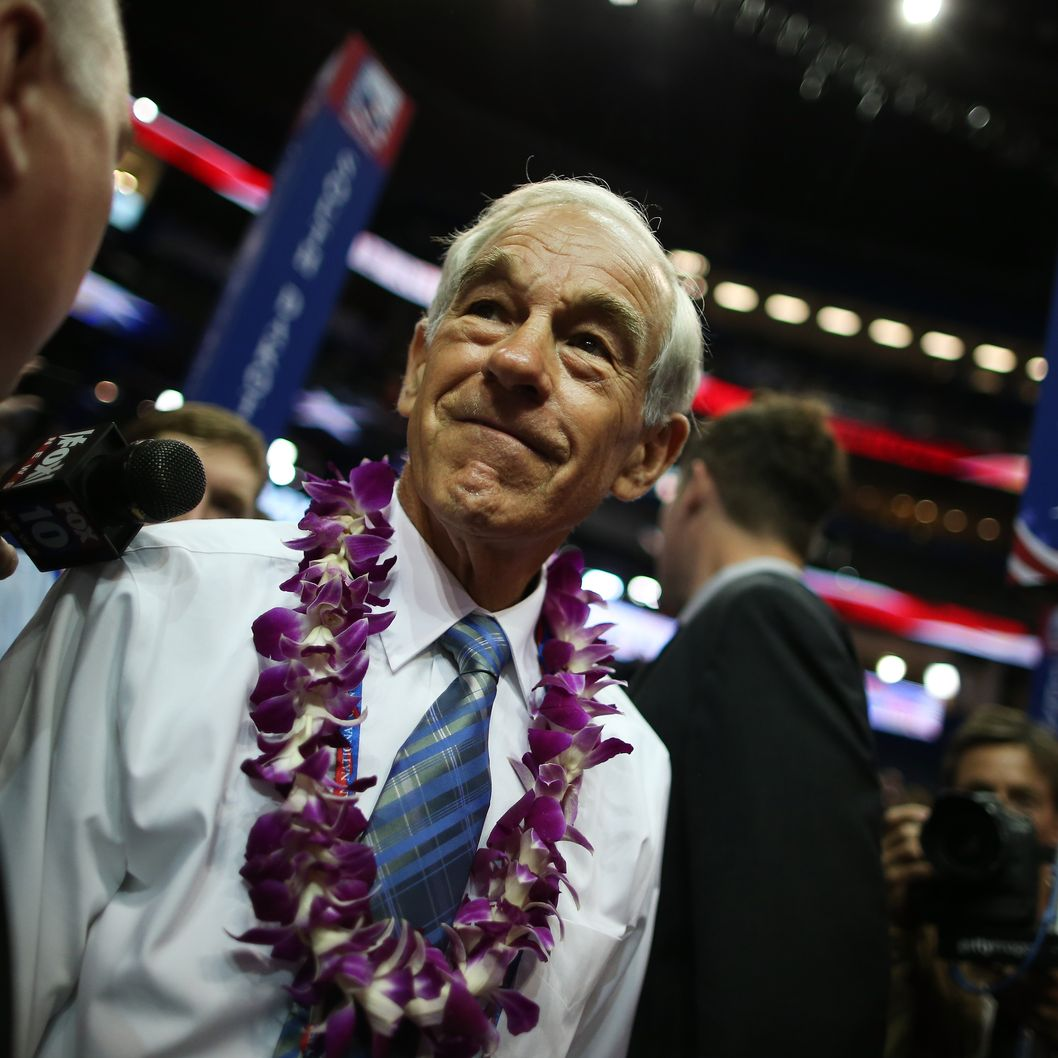 TAMPA, FL - AUGUST 28:  U.S. Rep. Ron Paul (R-TX) walks the arena floor during the second day of the Republican National Convention at the Tampa Bay Times Forum on August 28, 2012 in Tampa, Florida. Today is the first full session of the RNC after the start was delayed due to Tropical Storm Isaac.  (Photo by Chip Somodevilla/Getty Images)