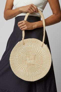 Sensi Studio Circular Straw Handbag