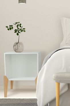 Mainstays Bedroom Nightstand Open Wood End Table in White