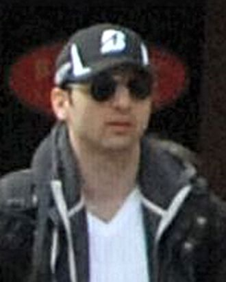 BOSTON, MA - APRIL 15: In this image released by the Federal Bureau of Investigation (FBI) on April 19, 2013, a suspect in the Boston Marathon bombing walks near the marathon finish line on April 15, 2013 in Boston, Massachusetts. The twin bombings at the 116-year-old Boston race resulted in the deaths of three people with more than 170 others injured. (Photo provided by FBI via Getty Images)