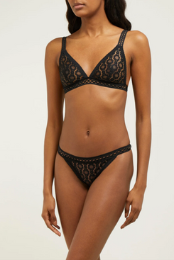 black lace stella mccartney lingerie bra - strategist fashion summer sale
