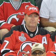 New York Jets head coach Rex Ryan attends the Los Angeles Kings vs the New Jersey Devils game one during the 2012 Stanley Cup final at the Prudential Center on May 30, 2012 in Newark, New Jersey.
