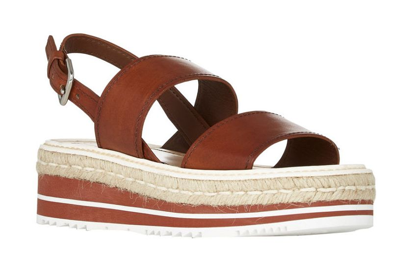 Prada Double-Band Espadrille Platform Sandals