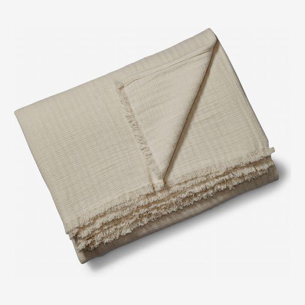 Casper Crinkle Organic Cotton Throw Blanket