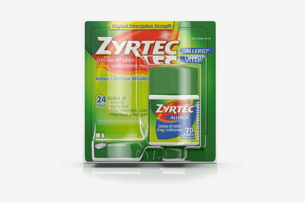 Zyrtec 24 Hour Allergy Relief Tablets with 10 mg Cetirizine HCl, 70 ct