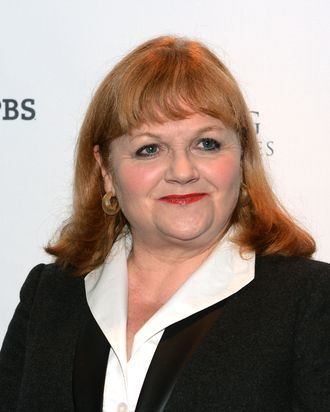 Actress Lesley Nicol arrives at The Hollywood Reporter screening of PBS Masterpiece's
