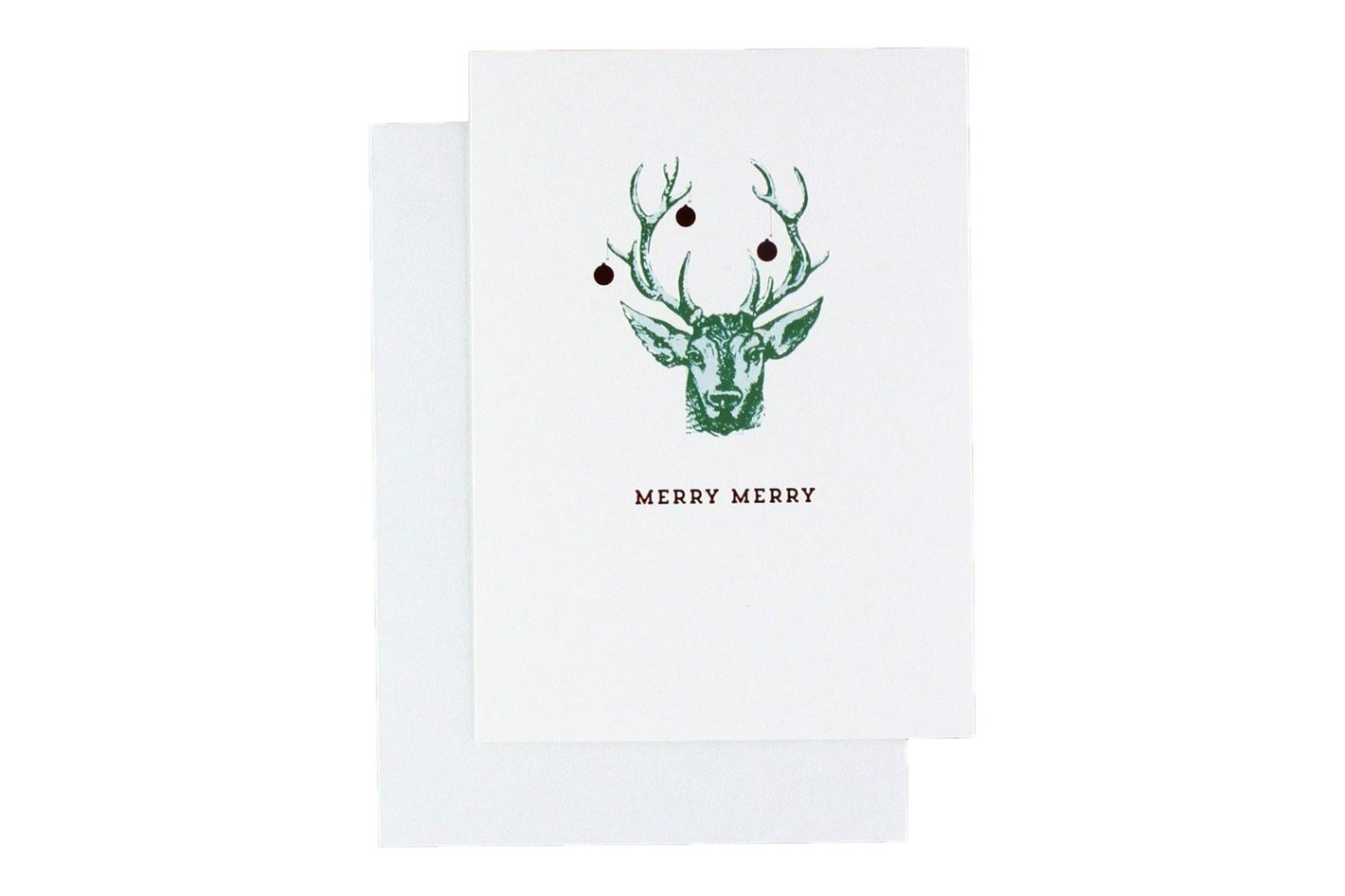 hallmark studio ink christmas boxed cards faux deer head