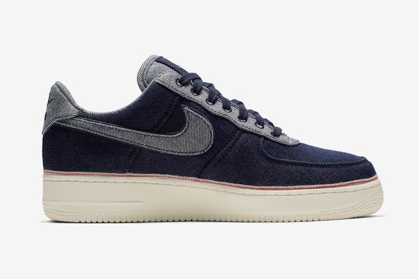 3x1 Nike Air Force 1 in Raw Indigo Selvedge