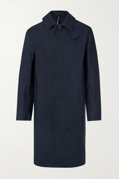 Oxford Bonded Cotton Trench Coat