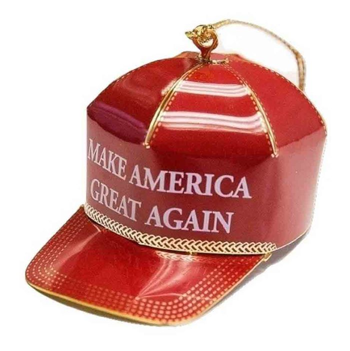 88f7a76ea9c Amazon Reviewers Dislike This Gold-Finished Donald Trump Christmas-Tree  Ornament