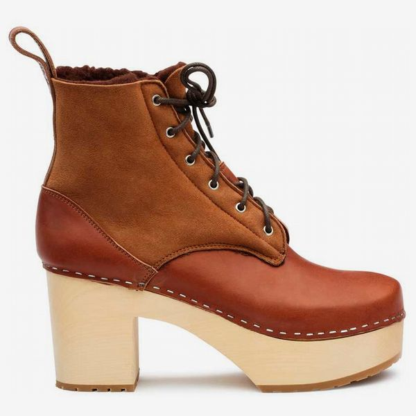 Hippie Lace-Up - strategist best lace up mahogany brown high-heel boot