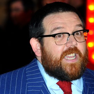 LONDON, ENGLAND - FEBRUARY 06: Nick Frost attends the World Premiere of