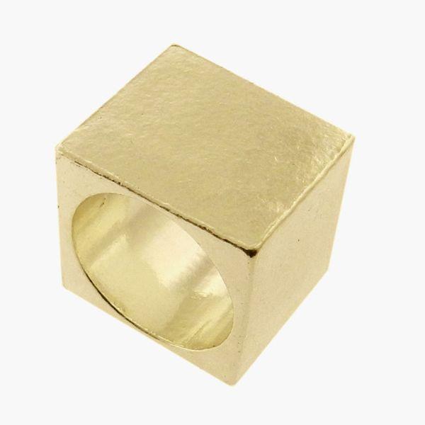 L. Jardim Cube Signet Ring