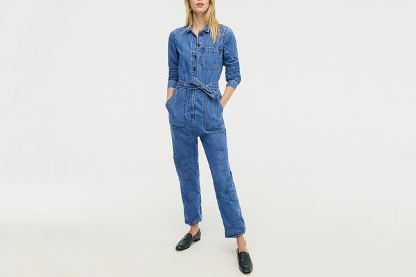 J. Crew Belted Denim Boilersuit