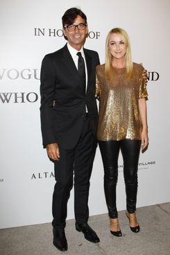 MILAN, ITALY - SEPTEMBER 22: L-R Patrizio Di Marco and Frida Giannini  attends The Vogue Fashion Fund Who Is On Next? party dring Milan Fashion Week Womenswear Spring/Summer 2012 at Palazzo Morando on September 22, 2011 in Milan, Italy.  (Photo by Vittorio Zunino Celotto/Getty Images)