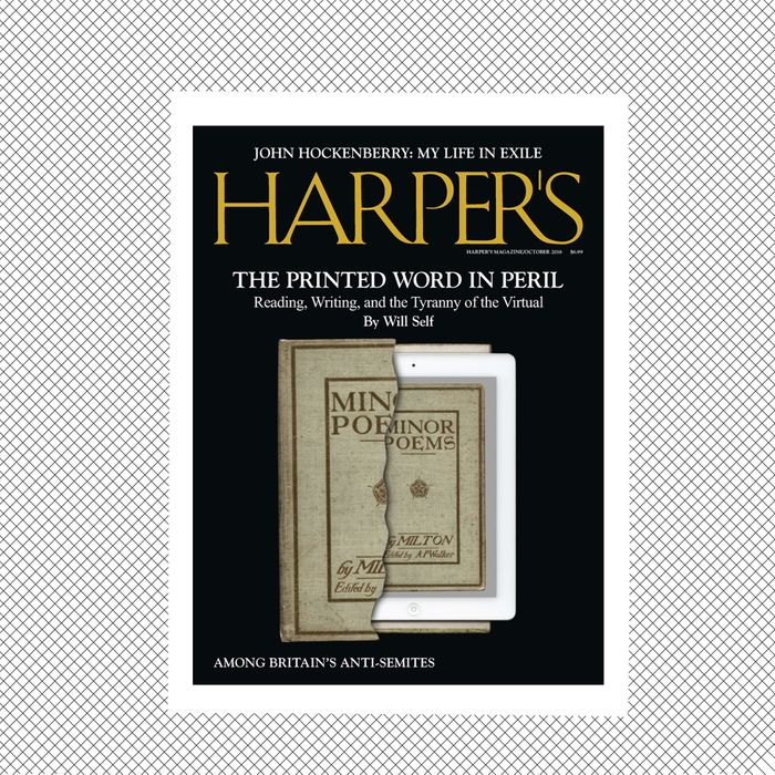 The October issue of Harper's.