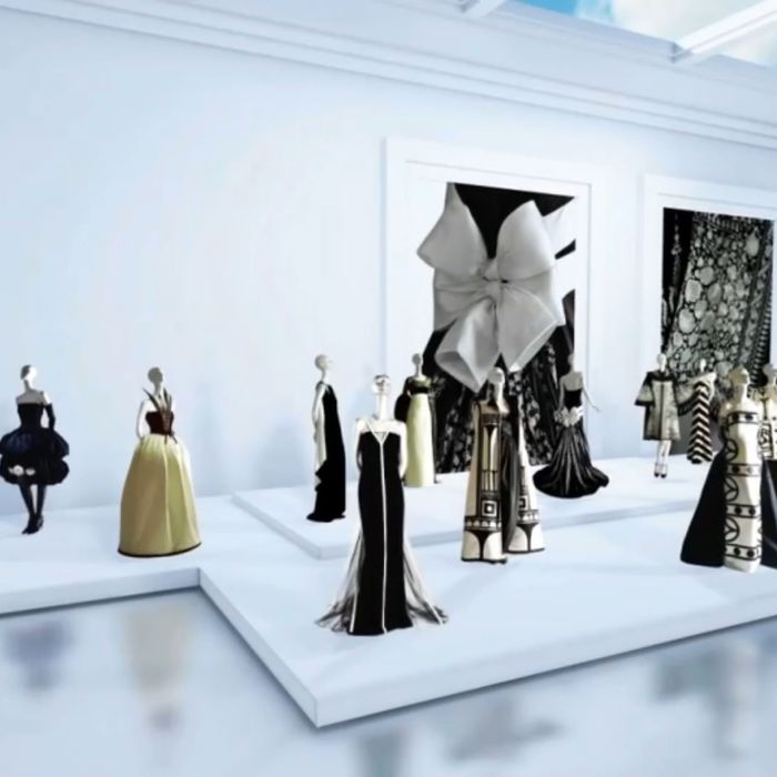A room in Valentino's new virtual museum.