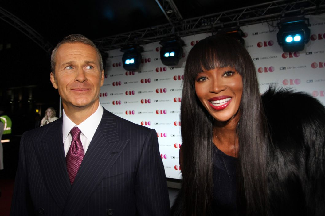 Oct. 16, 2012 - Moscow, Russia - October 16,2012.Moscow,Russia.Pictured: American supermodel Naomi Campbell with her partner Vladislav Doronin (co-owner of Capital Group company)attend presentation of new ??????-Capital Group skyscraper in Moscow-City business centre of Moscow. (Credit Image: ? PhotoXpress/ZUMAPRESS.com)