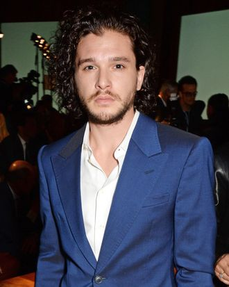 LONDON, ENGLAND - JUNE 16: Kit Harington attends the Jimmy Choo Men's Show Spring Summer 2015 during London Collections Men on June 16, 2014 in London, England. (Photo by David M. Benett/Getty Images for Jimmy Choo)