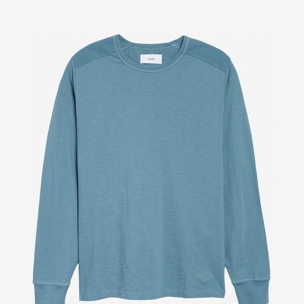Ovadia Magen Slubbed Cotton Long Sleeve T-Shirt