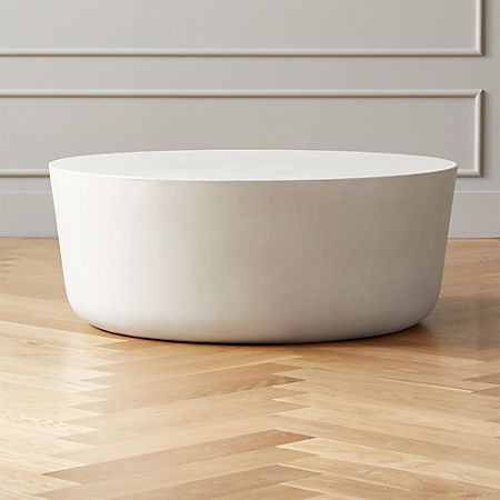 CB2 Cap Ivory Cement Coffee Table