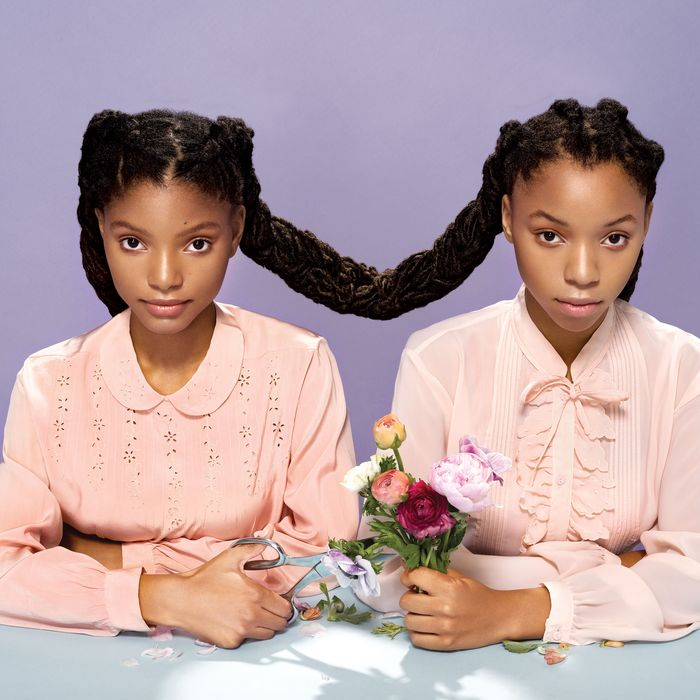 86e9011bffd Halle Bailey, left, and her sister Chloe. Photo: Rene and Radka