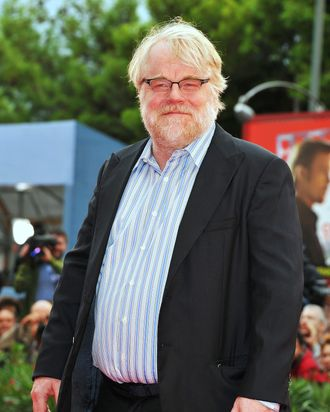 Actor Philip Seymour Hoffman attends