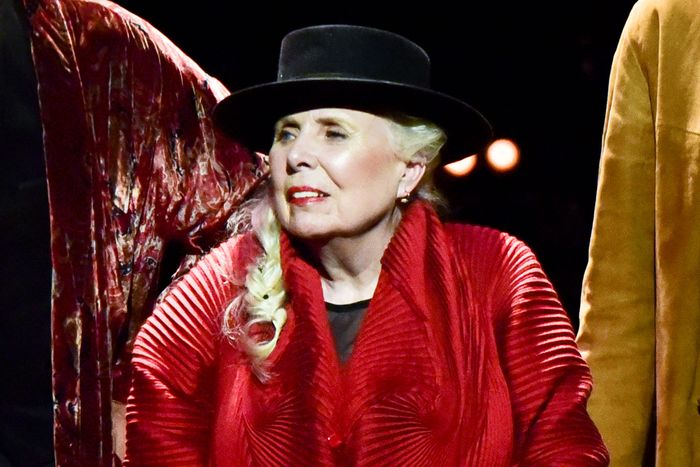 ae2458ea167 Joni Mitchell Makes Rare Appearance for 75th Birthday