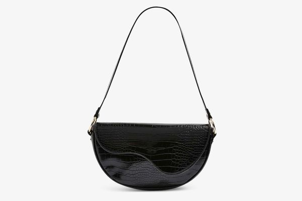 Topshop Demi Faux Leather Shoulder Bag