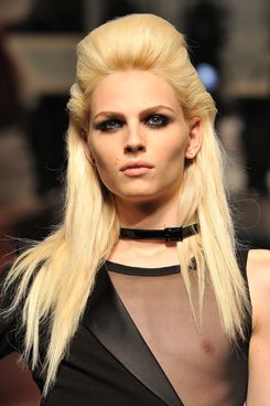 ndrej Pejic walks the runway during the Jean-Paul Gaultier Haute-Couture show as part of Paris Fashion Week Fall / Winter 2012/13 on July 4, 2012 in Paris, France.