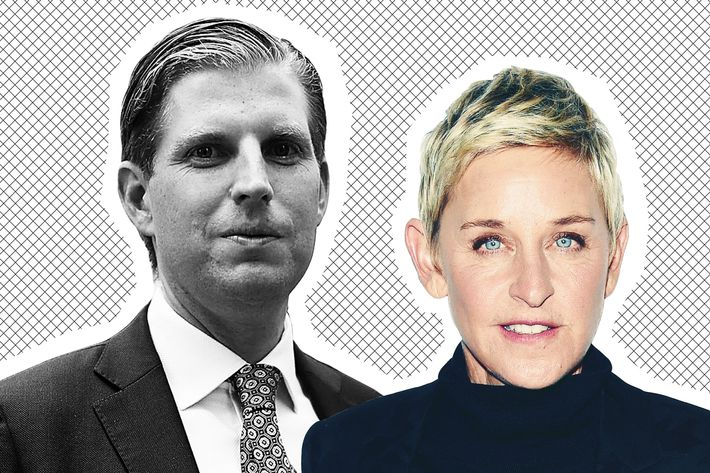 Eric Trump and Ellen DeGeneres.