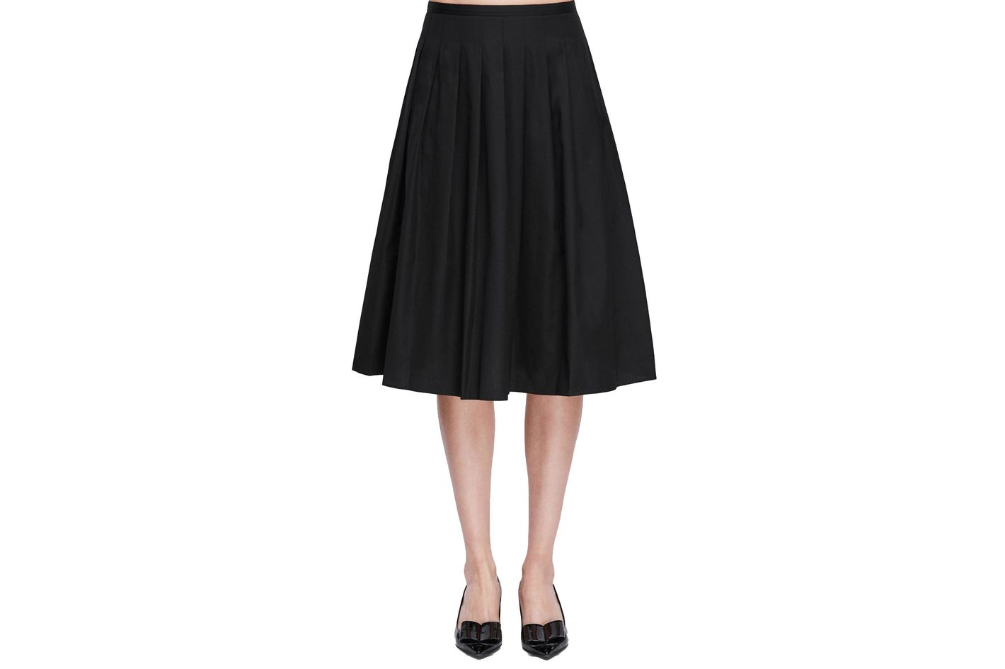 Vince Multipleated Skirt