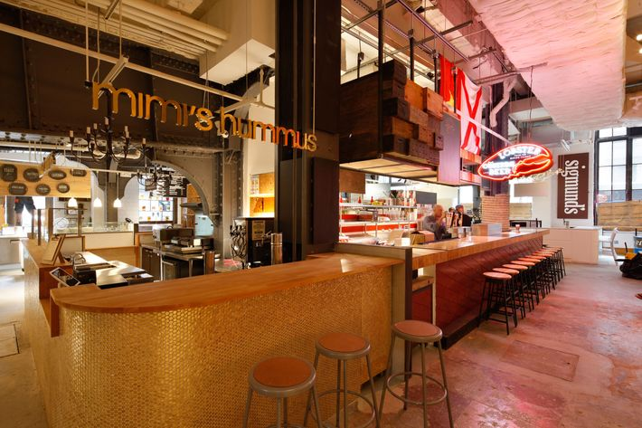 This is the first Manhattan location of Mimi's Hummus.