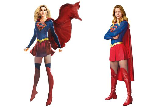 From concept sketch to production. Photo Courtesy of CBS  sc 1 st  Vulture & How TVu0027s Supergirl Got Her New Look -- Vulture