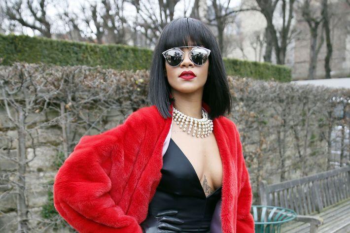 Rihanna at the F/W 2014 Dior show in Paris.