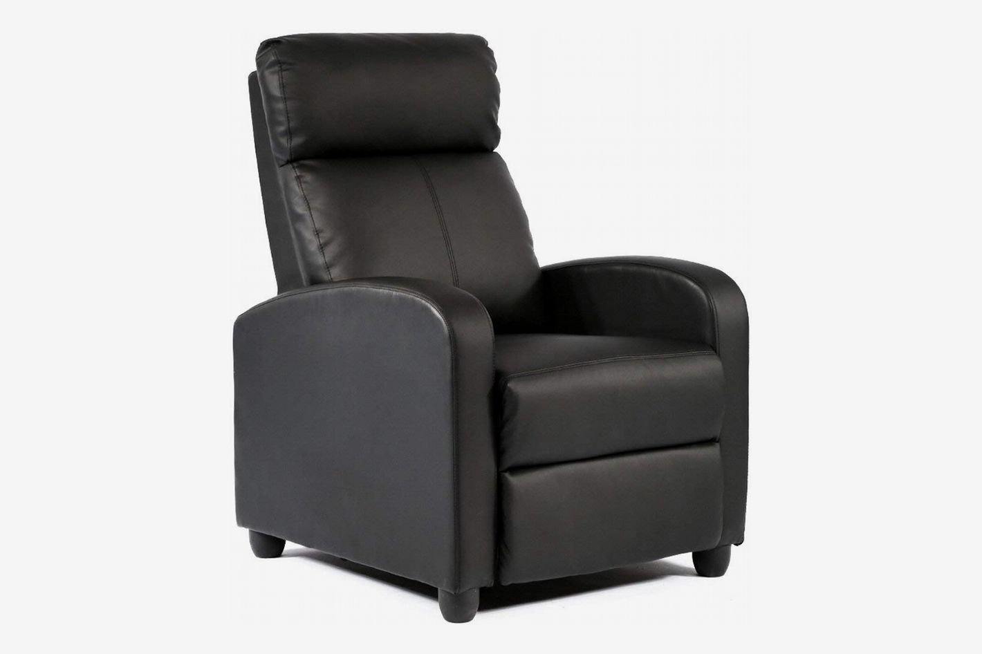 Bestmage Modern Leather Chaise Couch Single Recliner Chair