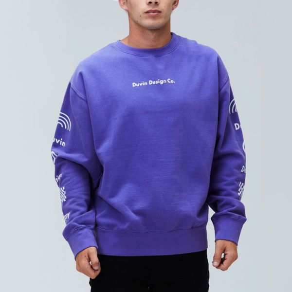 Duvin Design Co. Sleeves Crewneck Sweater