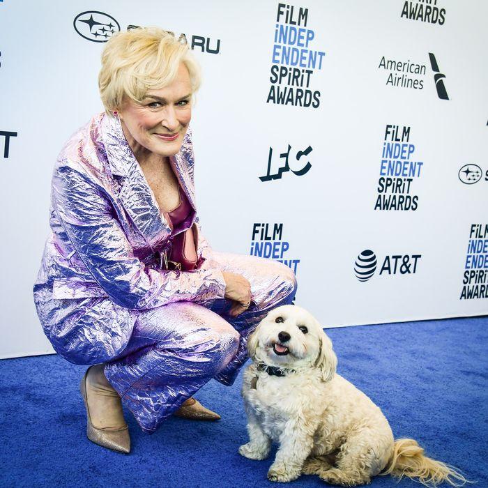 Glenn Close and Pippi at the Independent Spirit Awards.