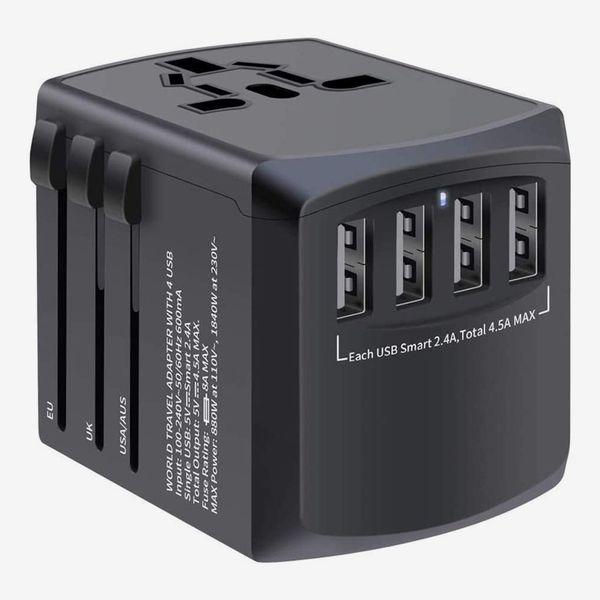 Mingtong 4 USB Worldwide Universal Travel Plug Adapter