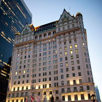 A general view of the exterior of the Plaza Hotel on November 2, 2011 in New York City.