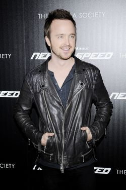 "Aaron Paul==The Cinema Society & Bushmill's host a screening of DreamWorks Pictures' ""Need for Speed""==Tribeca Grand Hotel, NYC==March 11, 2014==©Patrick McMullan==Photo - Nicholas Hunt / patrickmcmullan.com===="