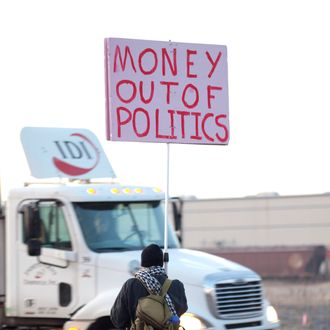 PORTLAND, OR - DECEMBER 12: A protester participating in the