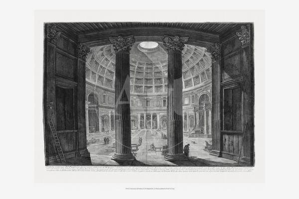 Veduta interna del Pantheon by Piranesi