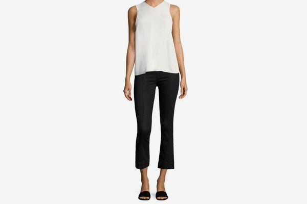 Helmut Lang Cropped Flared Denim Leggings