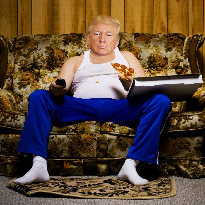 Obese Couch Potato Trumps to skip Kennedy...