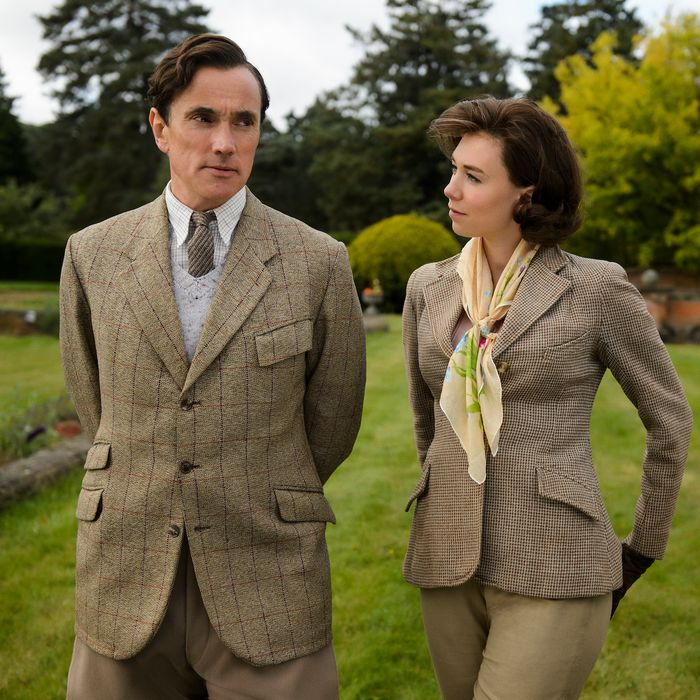 Ben Miles as Peter Townsend, Vanessa Kirby as Princess Margaret.