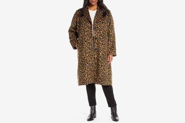 Bernardo Leopard Print Coat