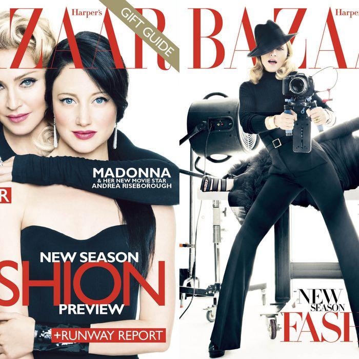 Madonna's new Harper's Bazaar covers.