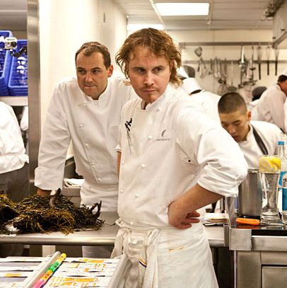 Achatz, with Daniel Humm at Eleven Madison Park in 2012.