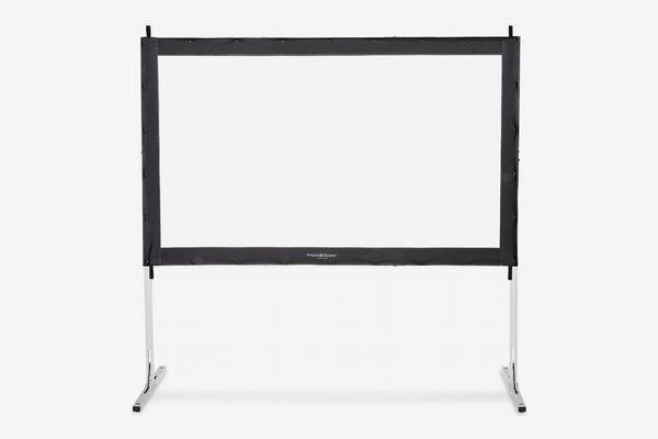 """Visual Apex Projector Screen 120"""" 4K Portable Indoor/Outdoor Movie Theater Fast-Folding Projector Screen"""